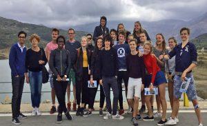 Leerlingen van het Vossius in het kader van Geo Future in het buitenland.