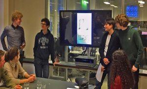 Geo Futurepresentatie door leerlingen van het Vossius.