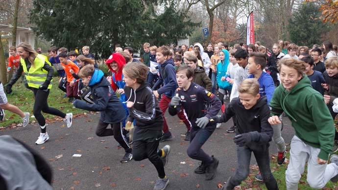 Sinterklaas sponsorloop een succes