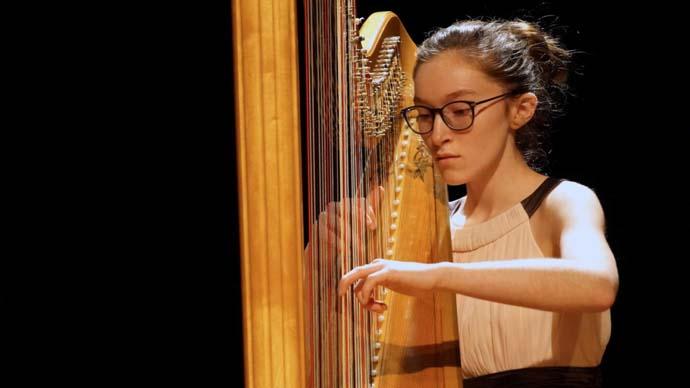 Eerste en tweede prijs Rosa Spier Harp concours